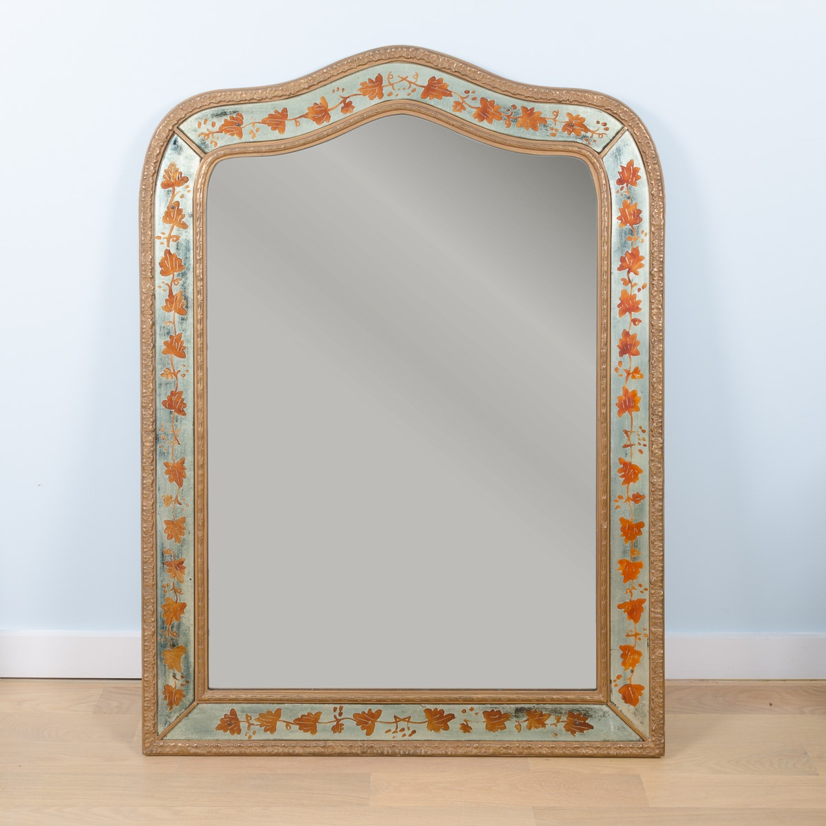 Vintage Venetian Style Painted Wall Mirror