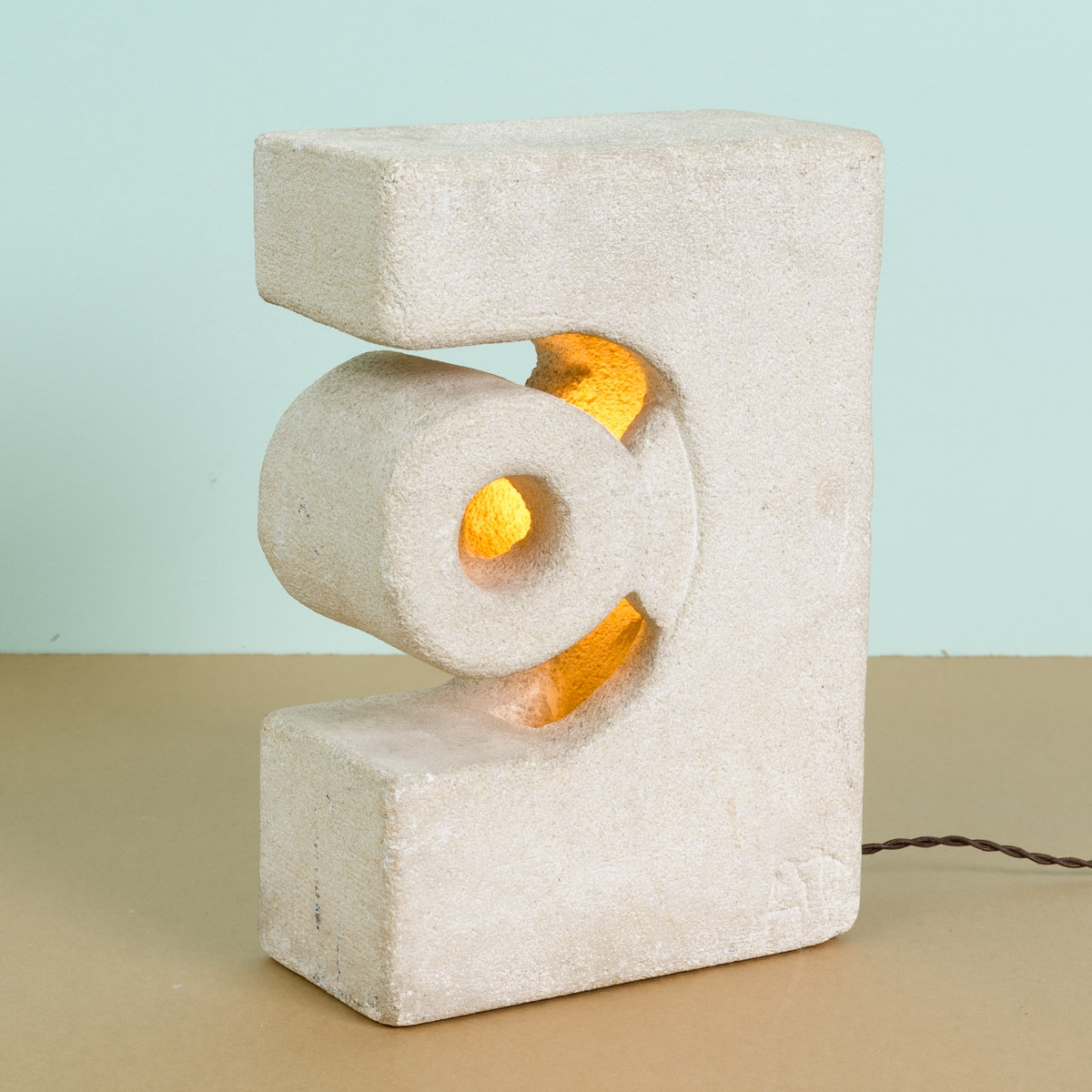 Contemporary Signed Cement Table Lamp