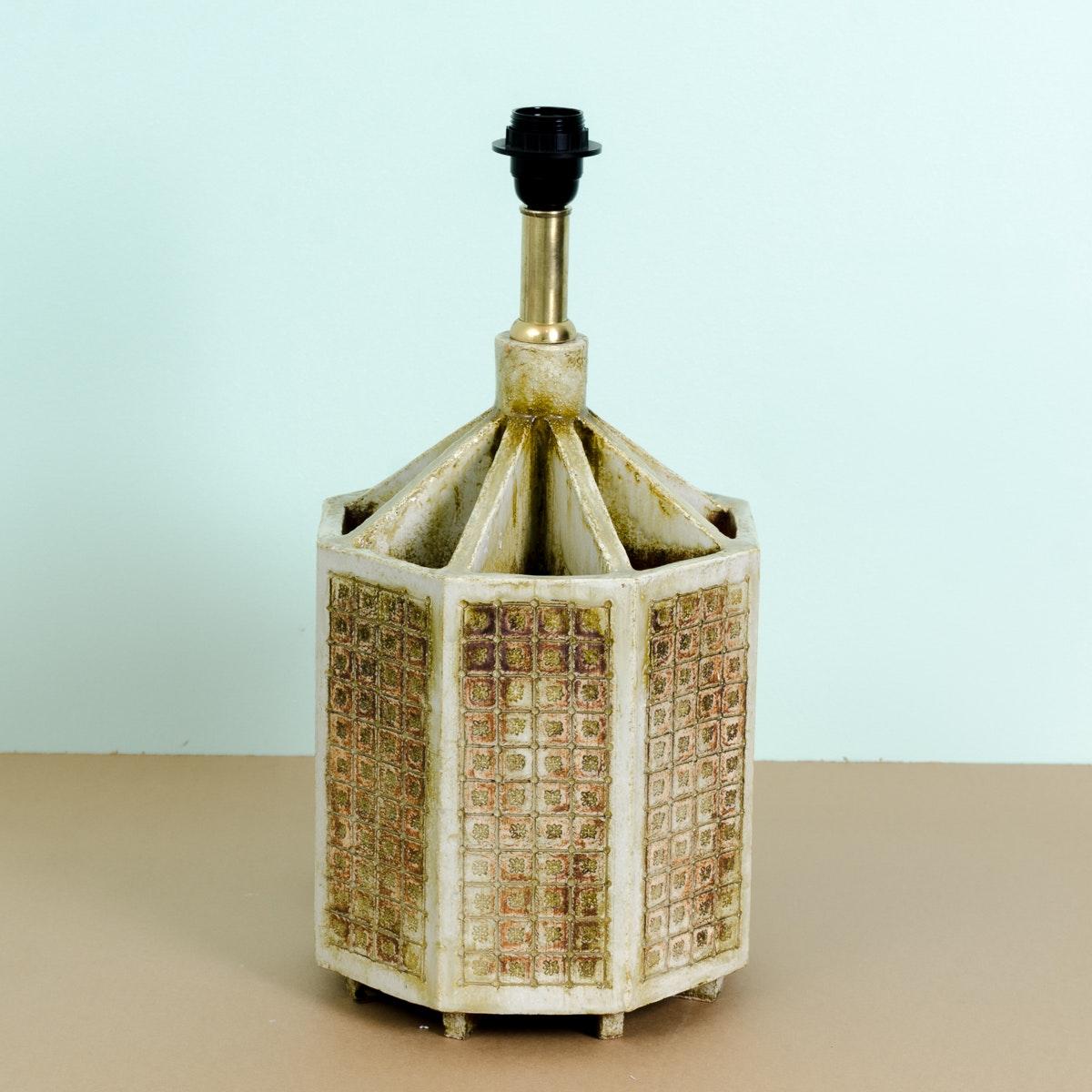 Mid Century Modern Stoneware Table Lamp Base