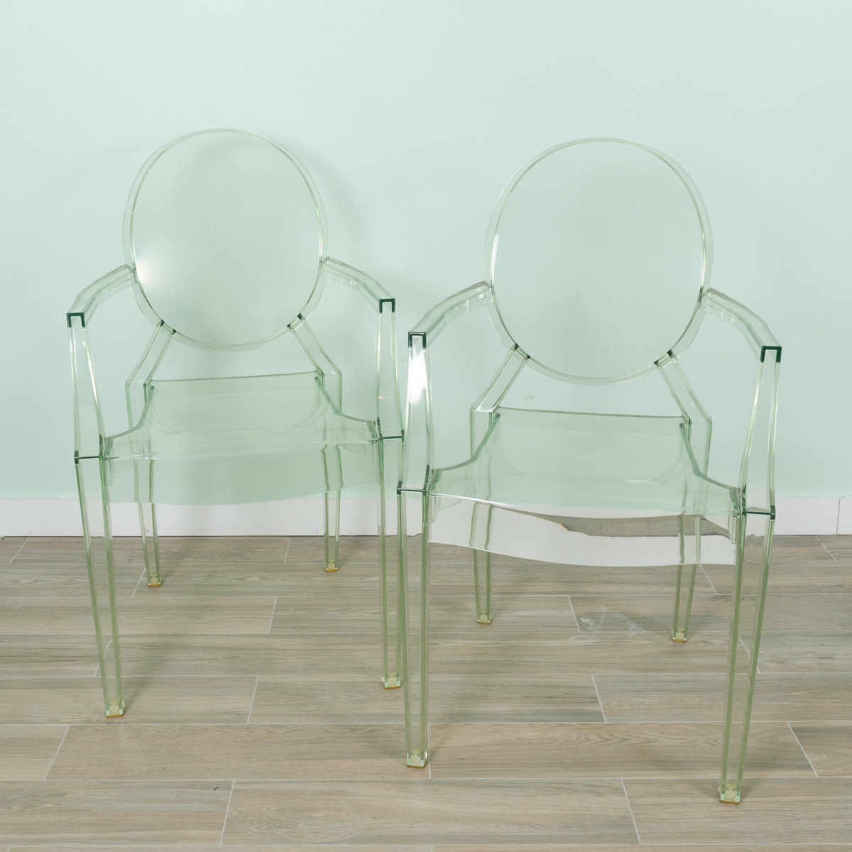 """Louis Ghost"" Chair Pair by Kartell"