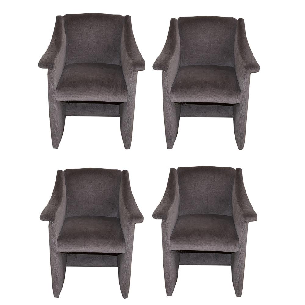 Four Modern Style Armchairs