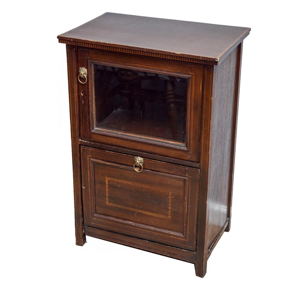 Vintage Regency Style Mahogany Cabinet