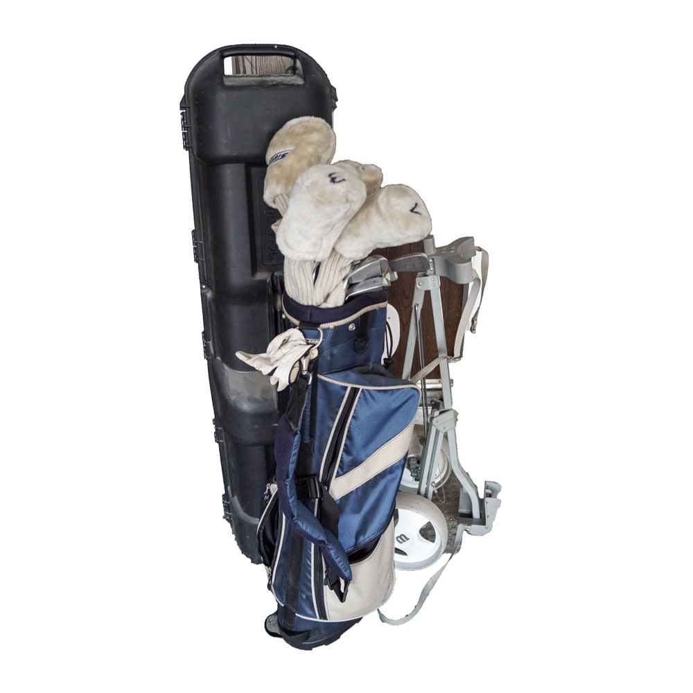 Solaris Golf Clubs with Bag, Cart, and Travel Case