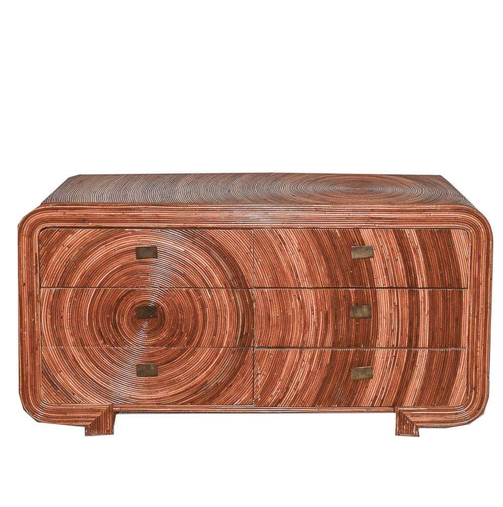 Art Deco Revival Bamboo Dresser