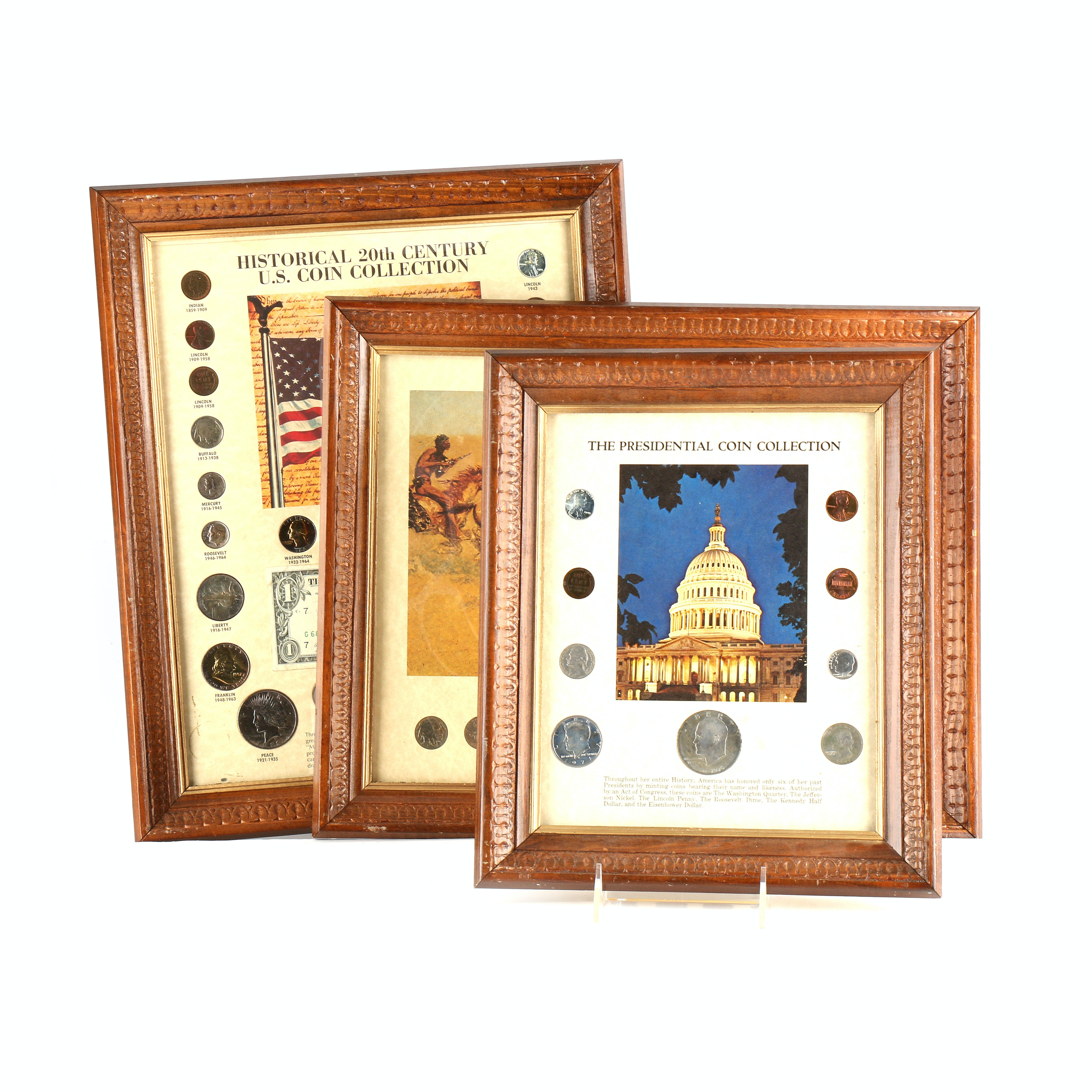 Presidential Auto Sales >> Three Framed Historic United States Coin Collections : EBTH