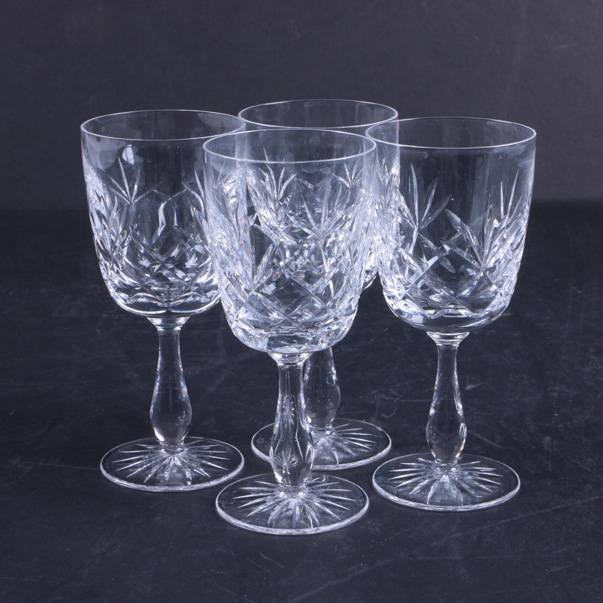 Set Of Cut Crystal Wine Glasses Ebth