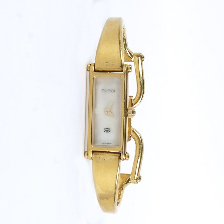c1a6accc267 Gucci Bracelet Watch with Mother of Pearl Dial   EBTH
