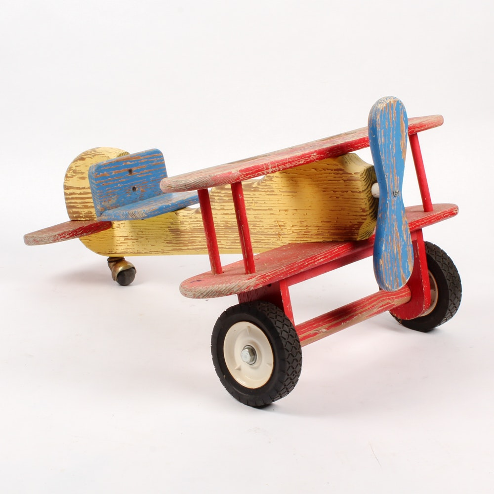 Handmade Wooden Airplane Toy