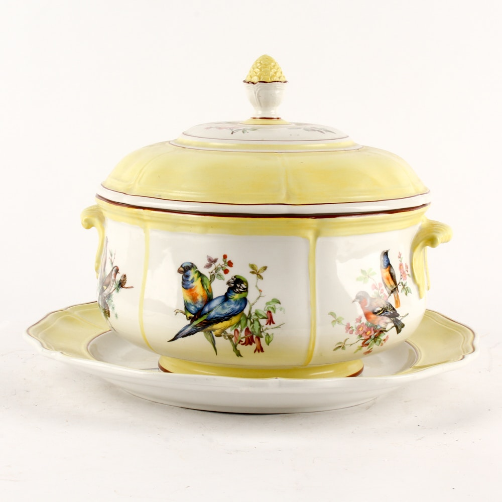 Mottahedeh Porcelain Tureen and Underplate