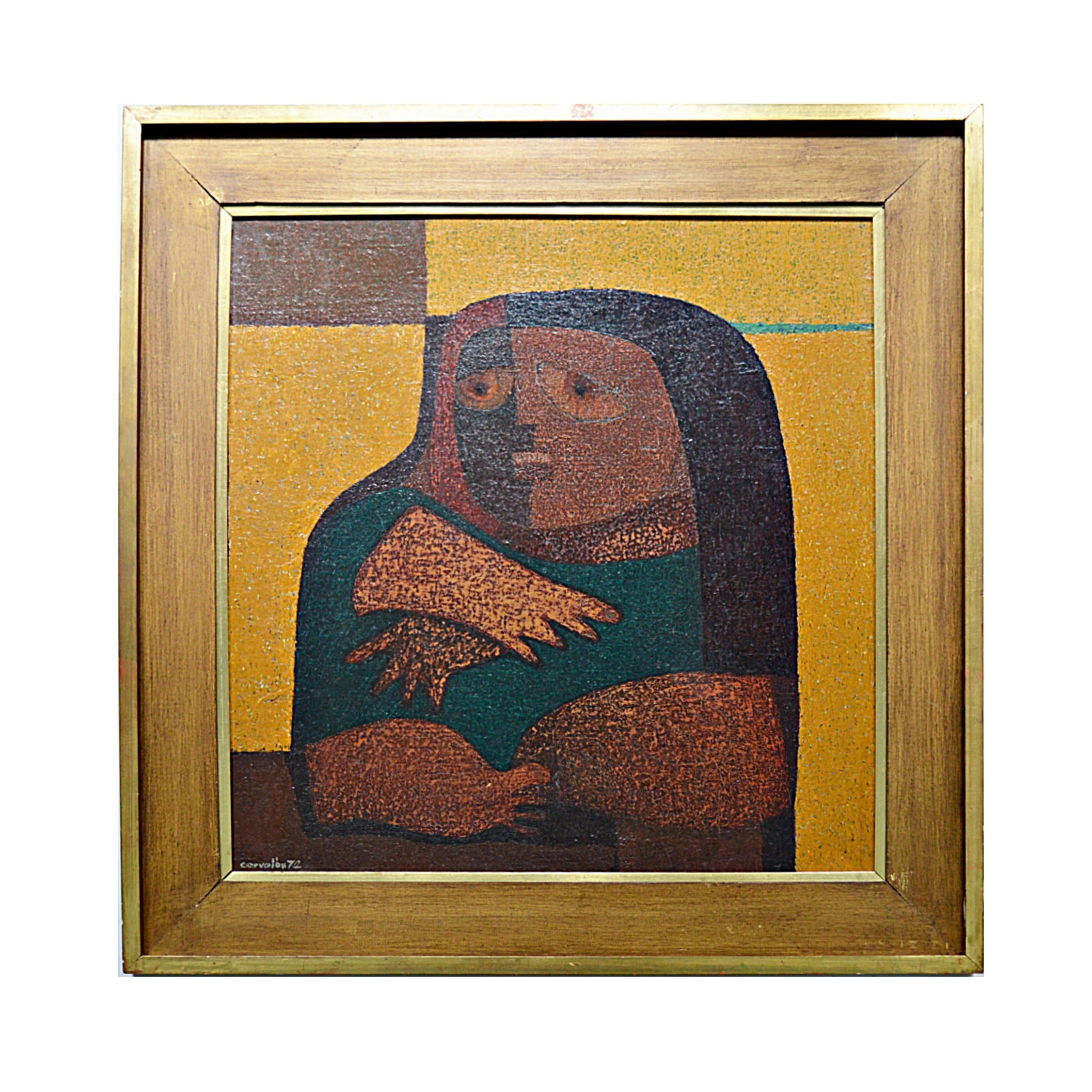 Juan Carlos Corvalan Original Cubist Style Oil on Canvas