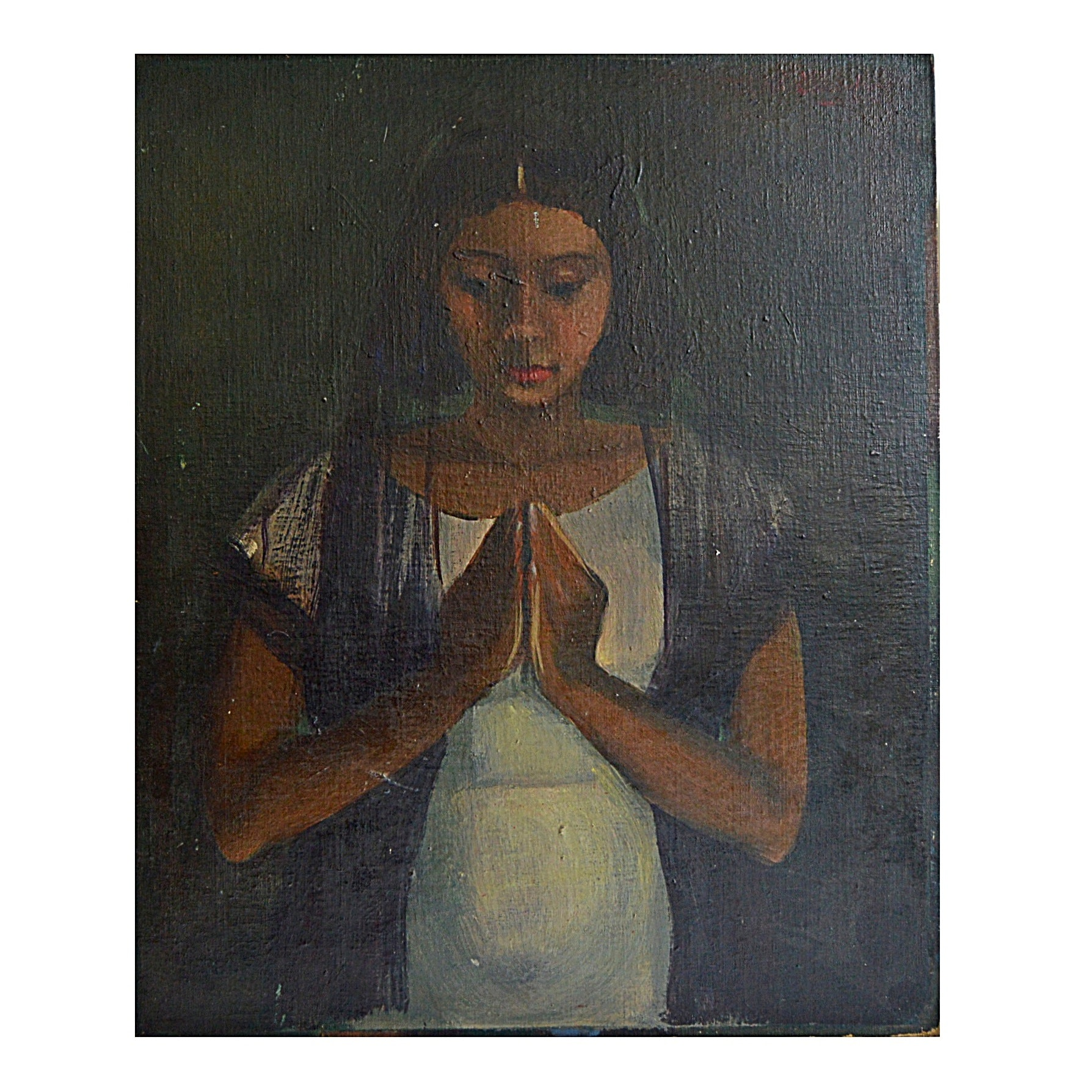 Original Oil on Canvas of a Young Girl