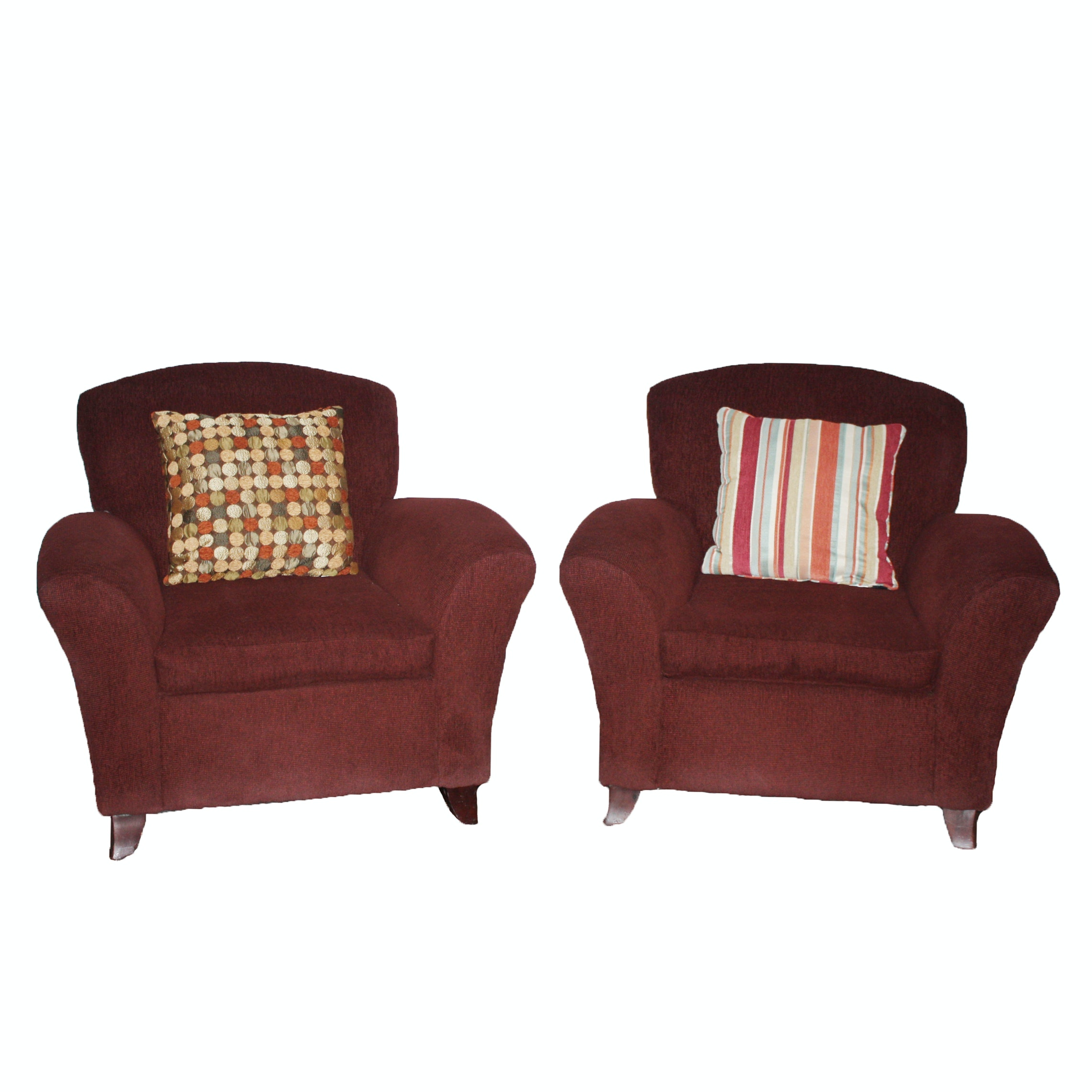 Pair of Upholstered Armchairs by Klaussner