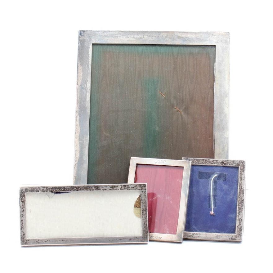Vintage Sterling Silver Picture Frames Including Gorham And Currier