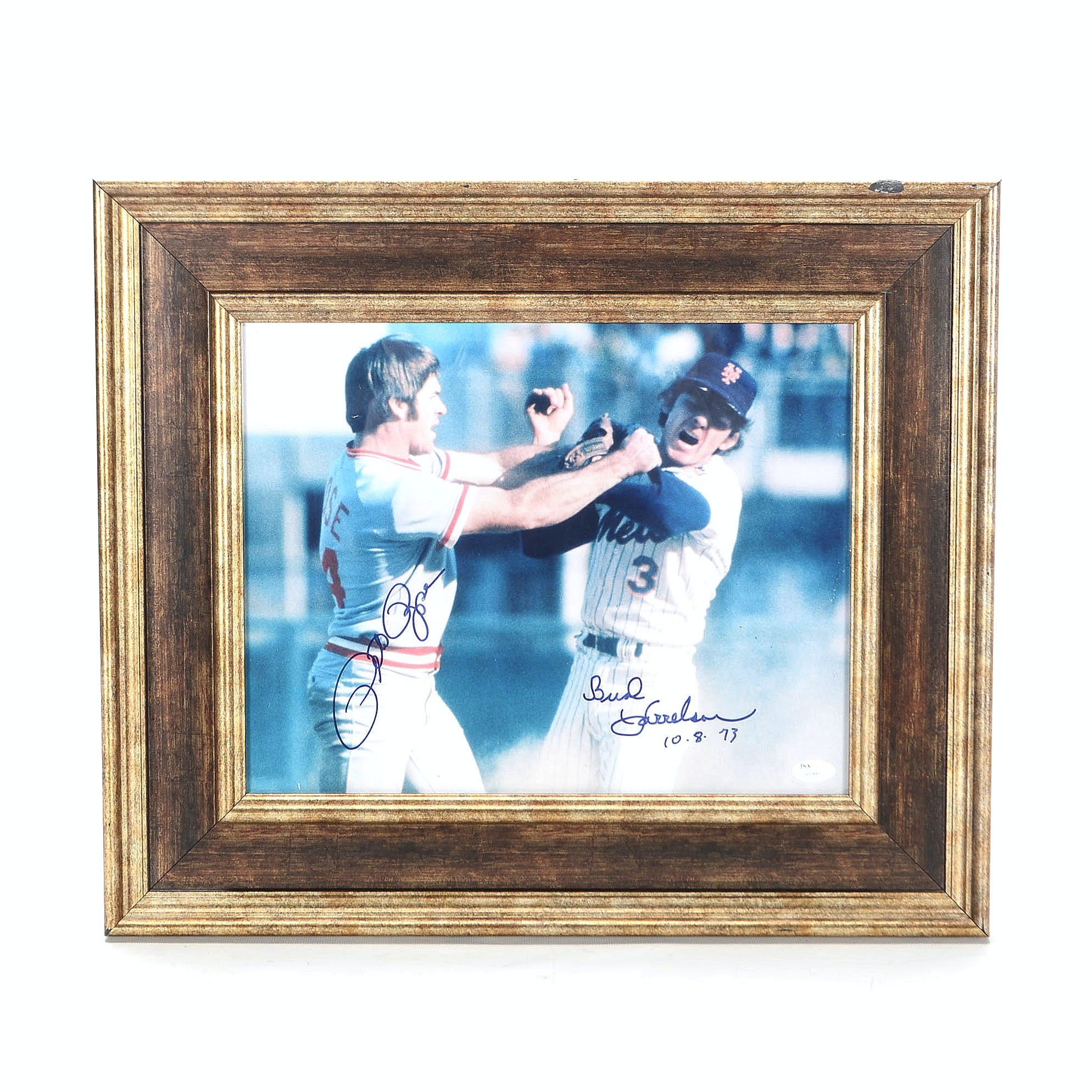 Rose and Harrelson Autographed Photo  COA