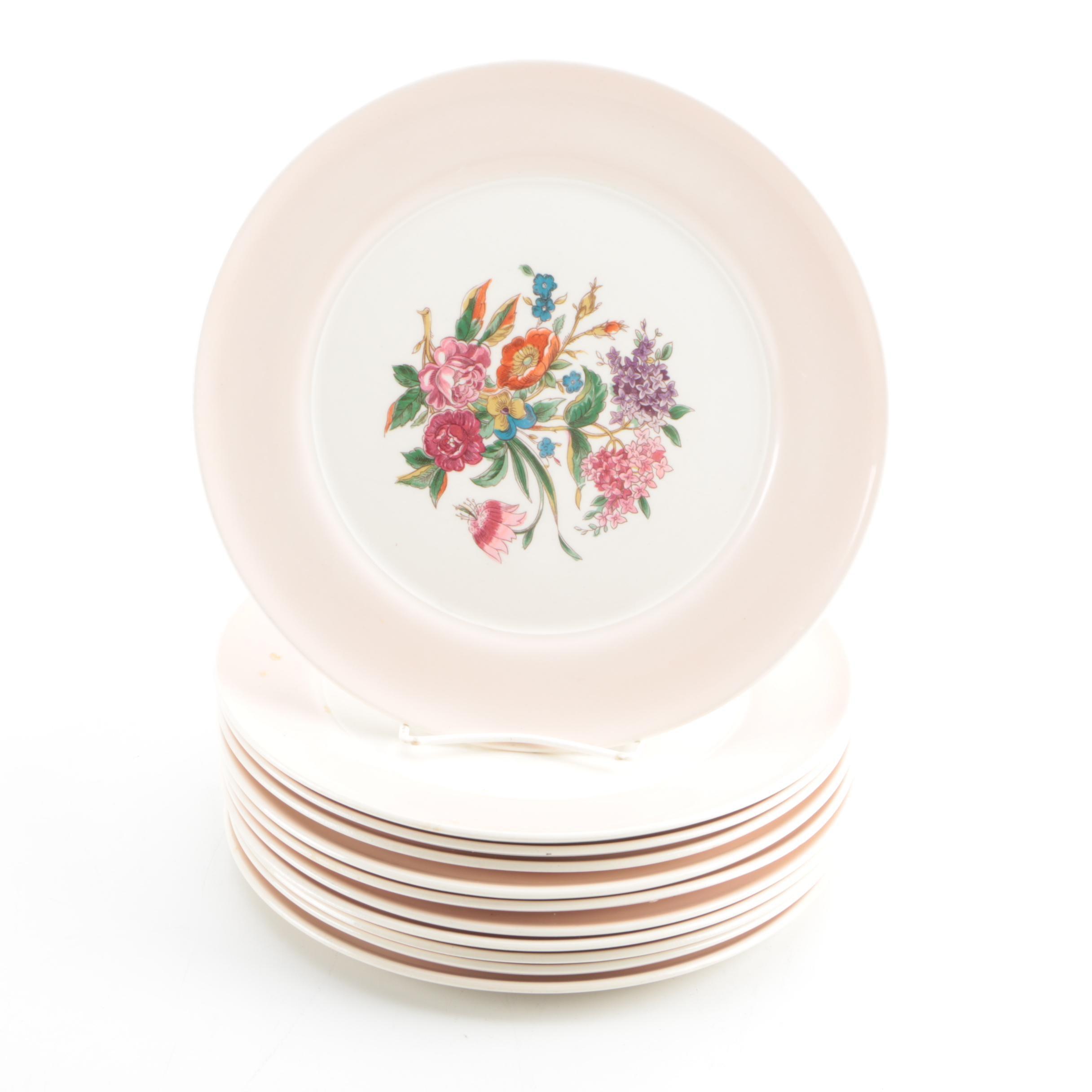 American Limoges \ Coburg\  Cotillion Pink Dinner Plates ...  sc 1 st  EBTH.com & American Limoges \