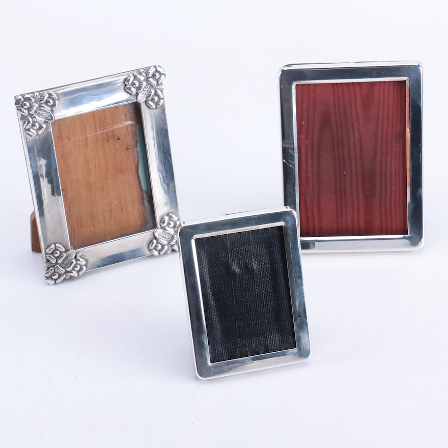 Tiffany Co And Gorham Sterling Silver Picture Frames Ebth