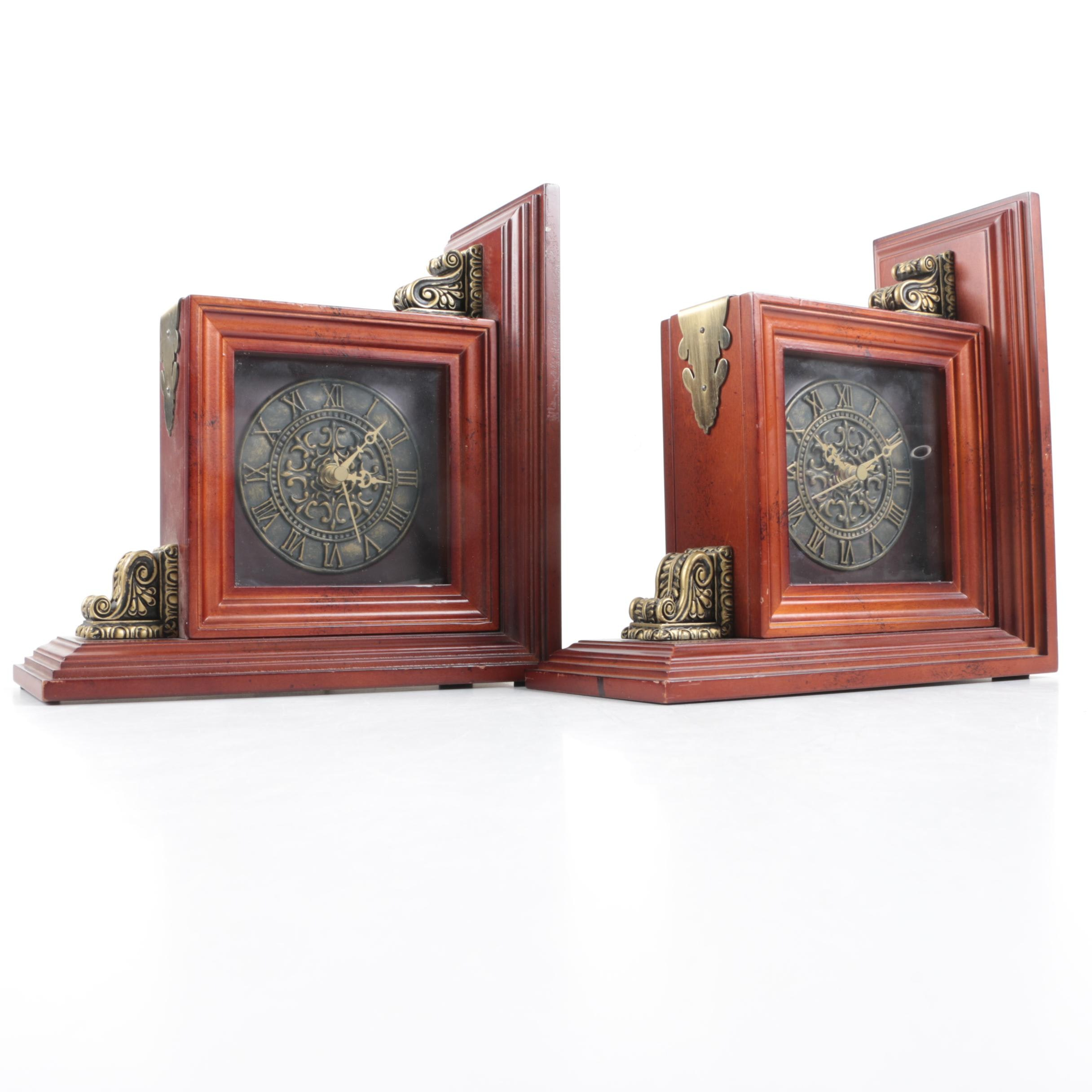bombay bookends with picture frames and clock ebth