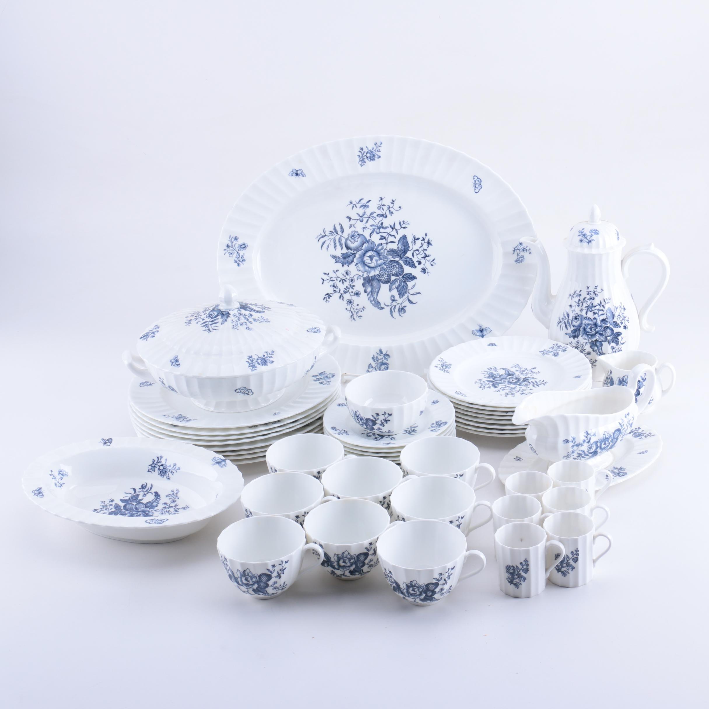 Royal Worcester \ Blue Sprays\  Reproduction Tableware ... & Royal Worcester \