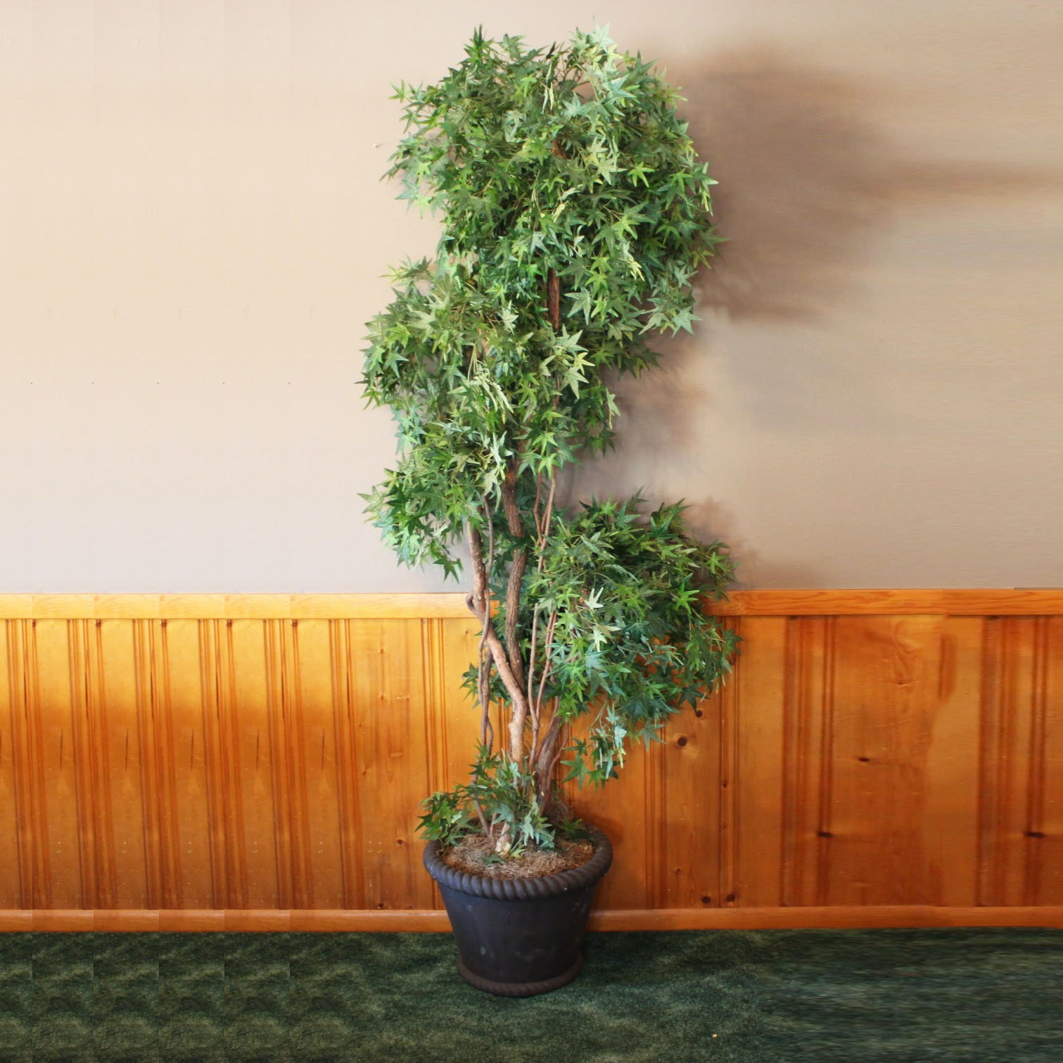 Faux Japanese  Maple Tree in Planter
