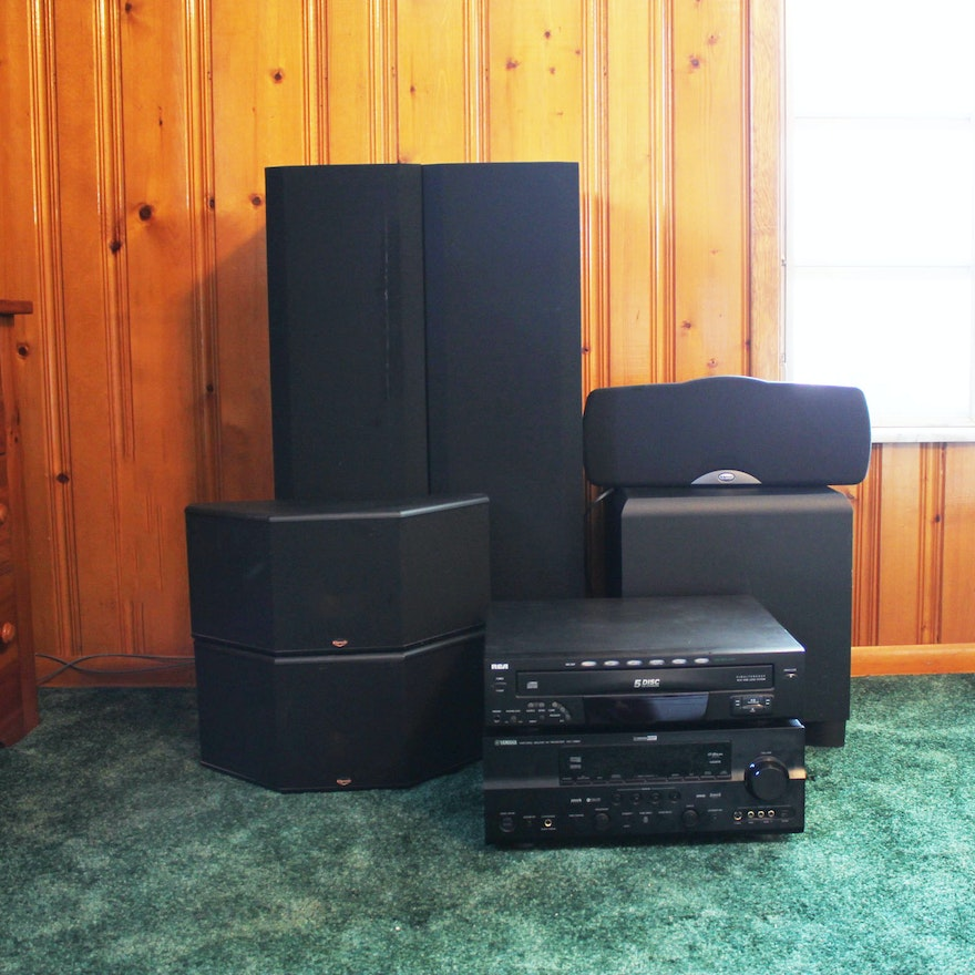 Home Theater Collection Featuring Klipsch, Yamaha and RCA