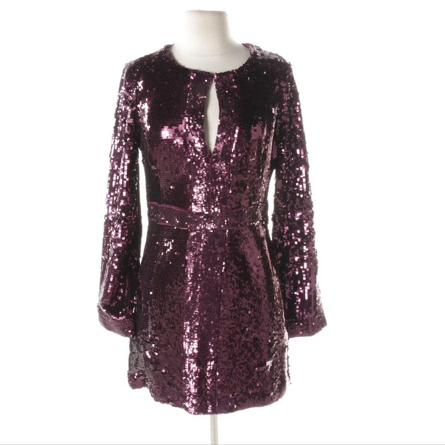 Tory Burch Purple Sequin Dress