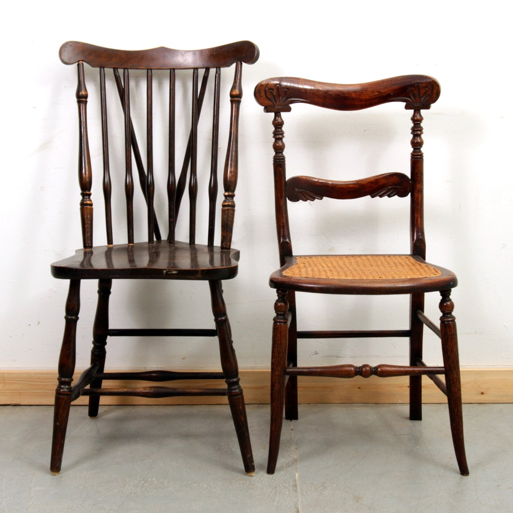 Bon Two Antique Side Chairs ...