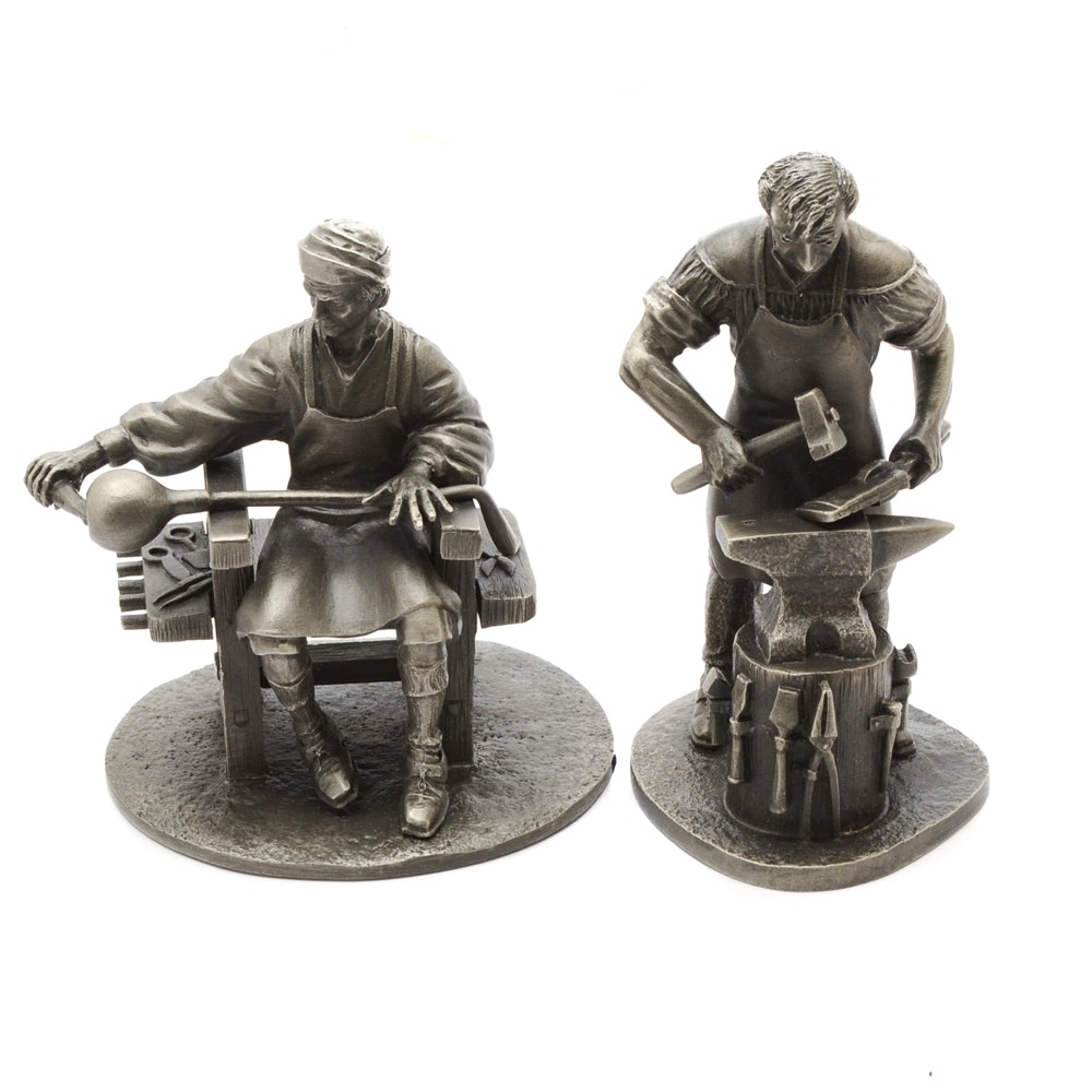 Franklin Mint Pewter Figurines Ebth