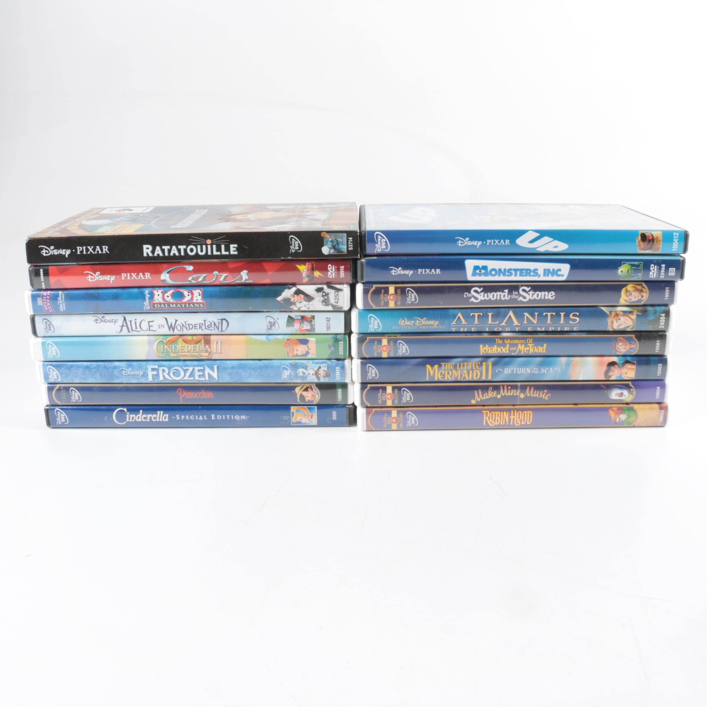 Disney Animated Movie DVDs