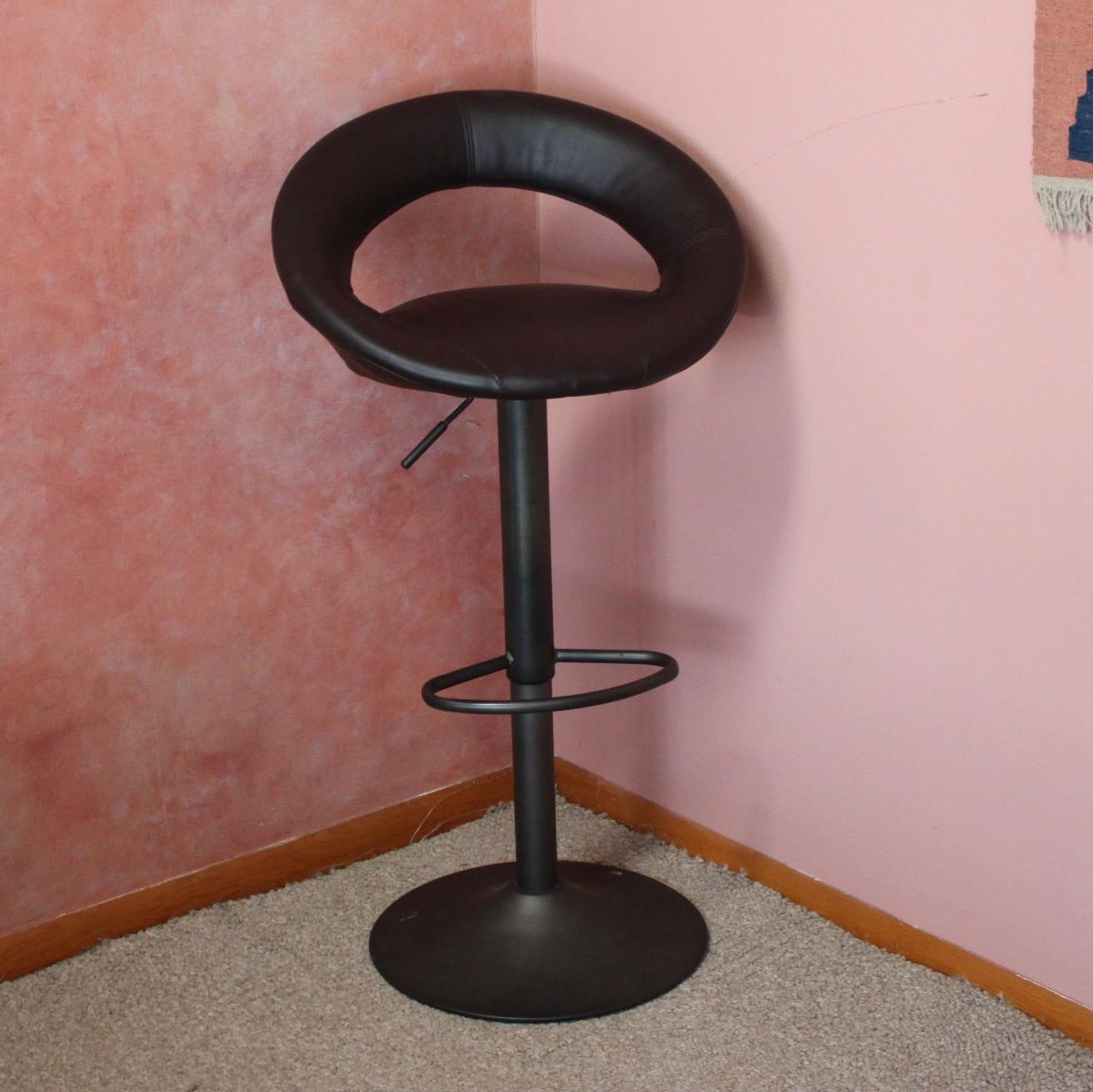 Modern Style Bonded Leather Barstool