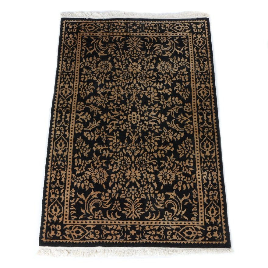 Hand Knotted Persian Wool Area Rug Ebth: Hand-Knotted Gregorian Oriental Indian Area Rug