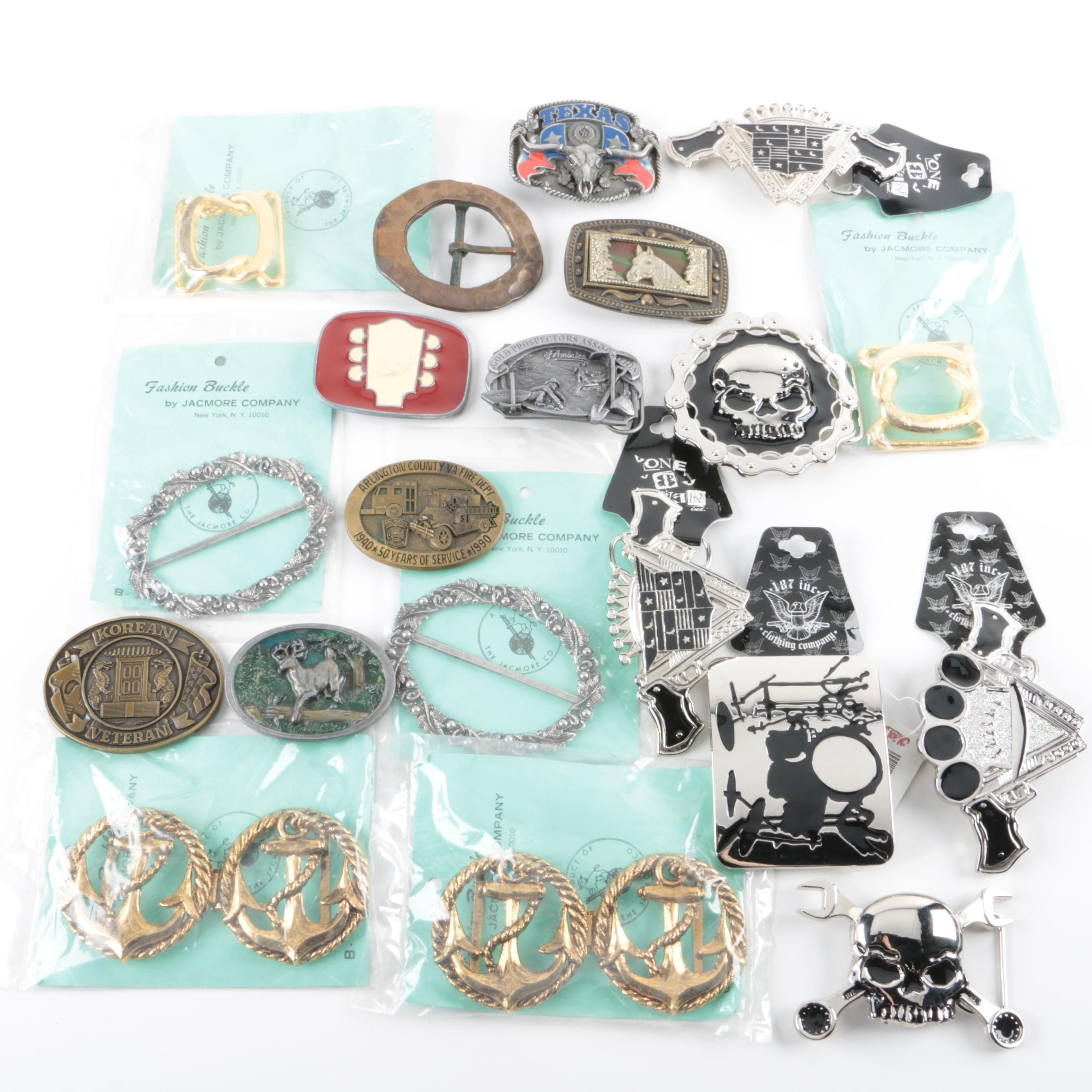 Vintage and Contemporary Fashion Belt Buckles