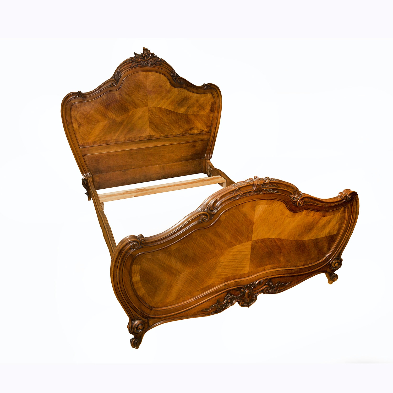 Rococo Revival Style Walnut Full-Size Bed