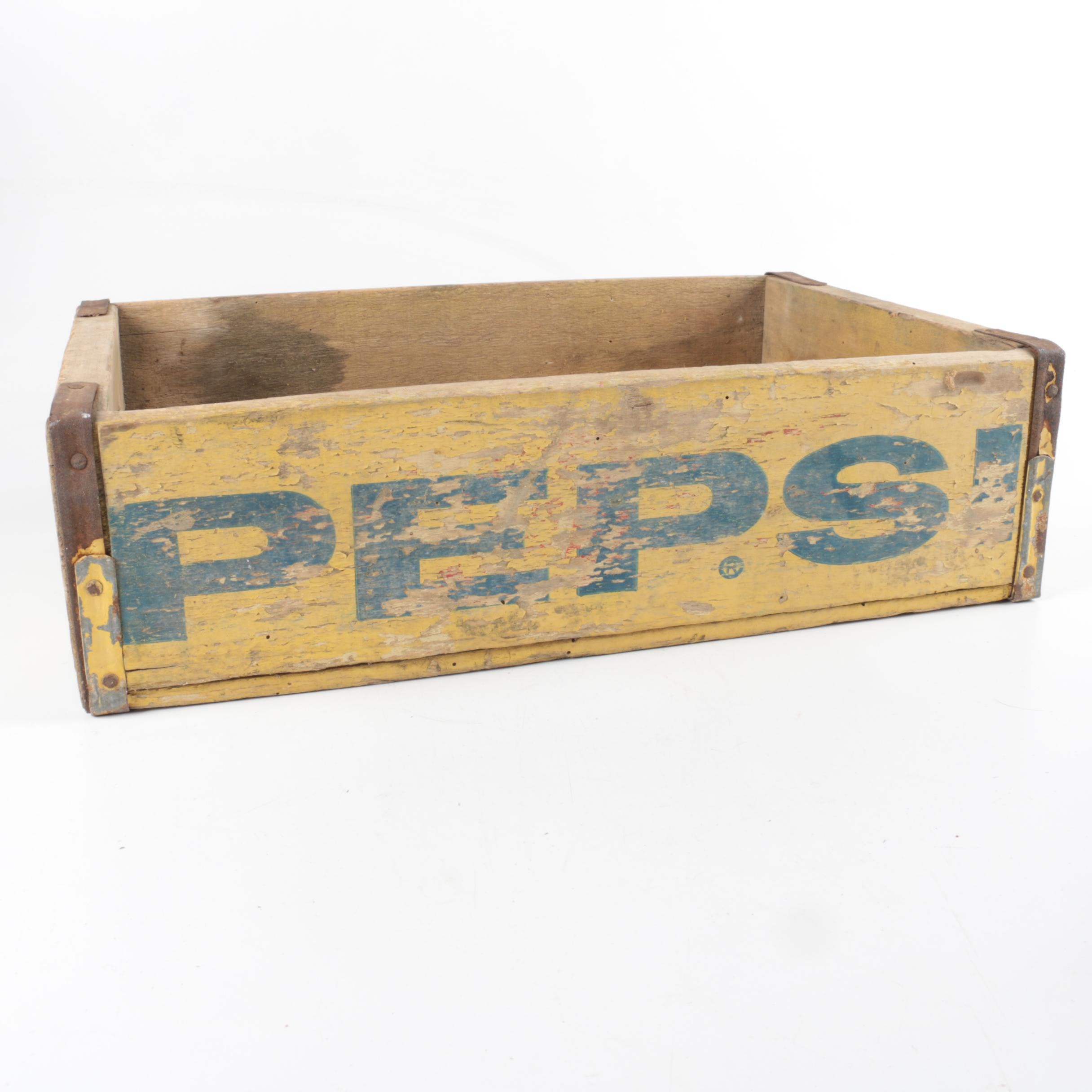 Vintage Pepsi Painted Wooden Crates