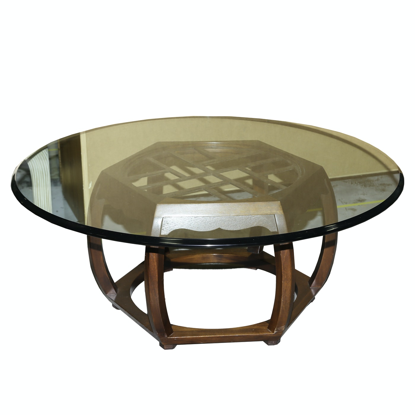 Asian style glass top coffee table ebth for Coffee tables japanese style