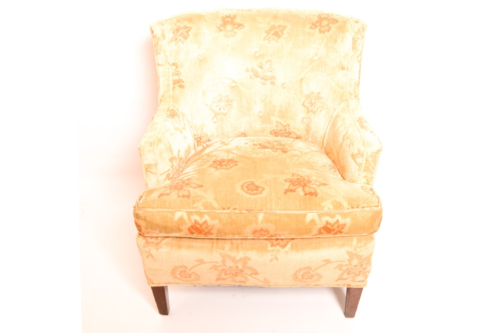 Mid Century Modern Velvet Armchair
