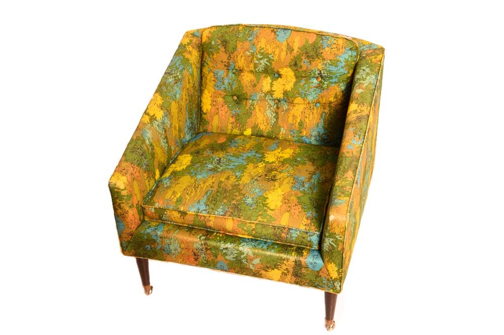 Kroehler Mid Century Modern Chair with Original Fabric