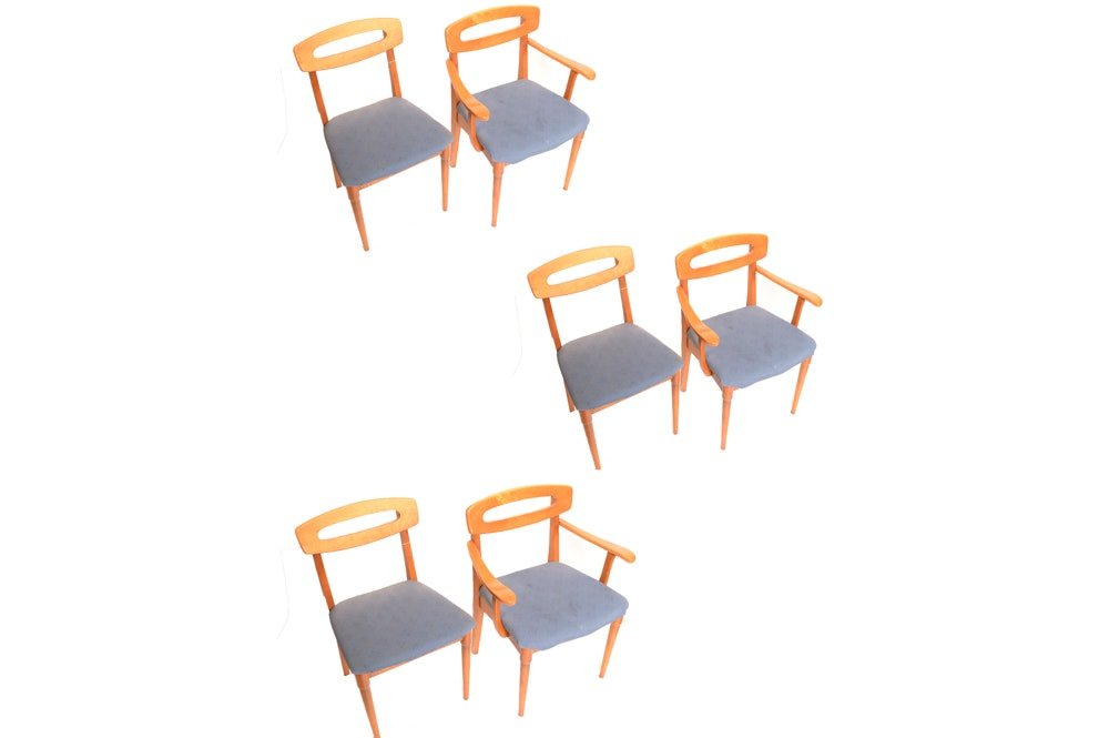 Six Mid Century Modern Dining Chairs