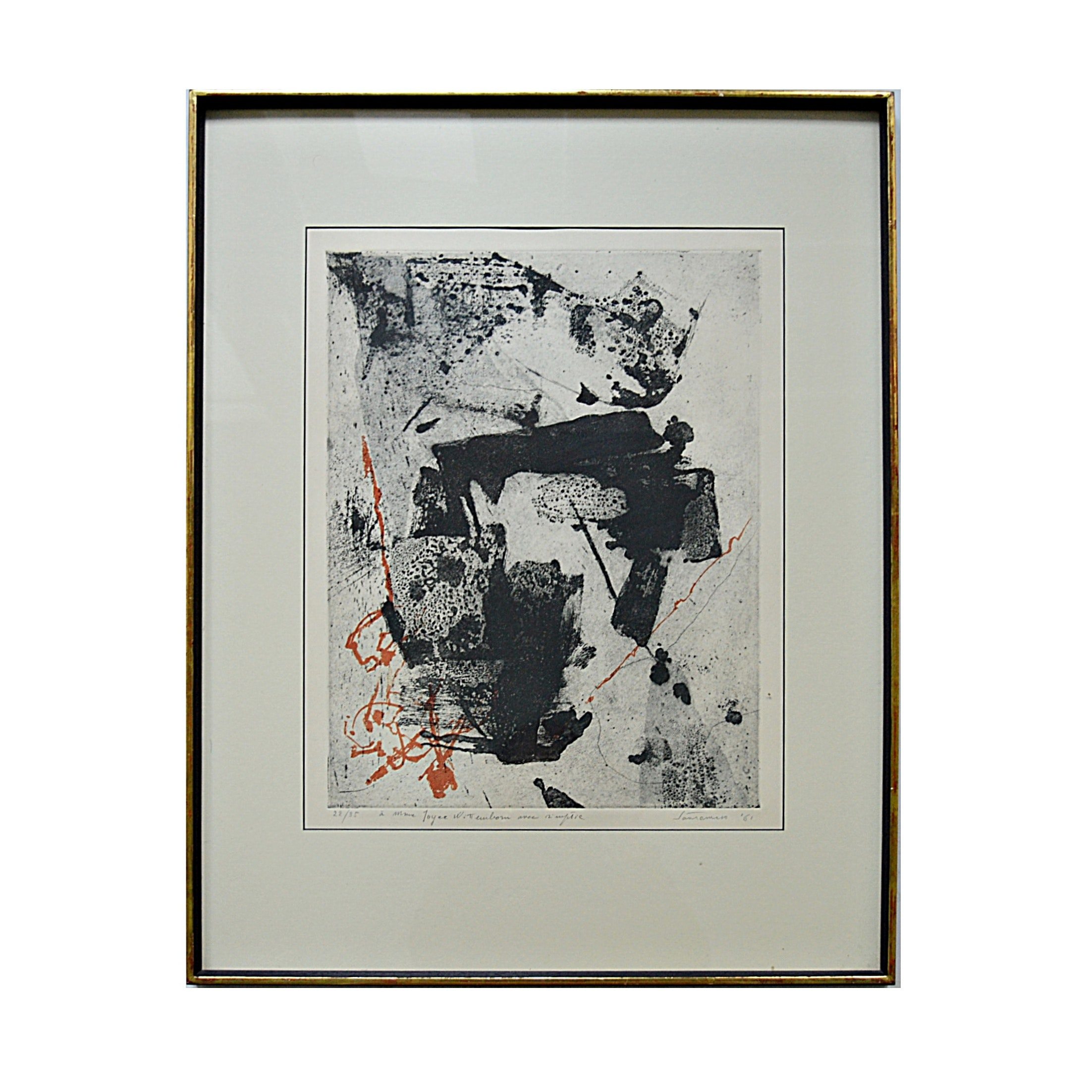 Giuseppe Santomaso Limited Edition Abstract Aquatint Etching