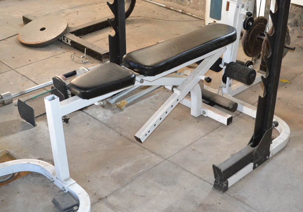 Parabody 893 Pro Weight Lifting System With Accessories Ebth