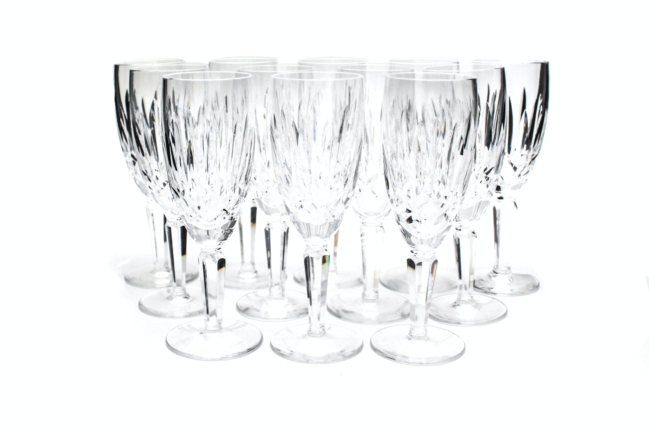 """Waterford Crystal """"Kildare"""" Champagne Flutes"""