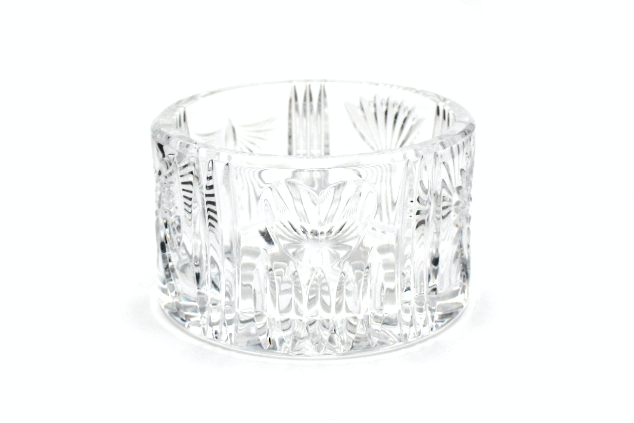 "Signed Waterford Crystal ""Millennium Collection: Five Toast"" Champagne Coaster"