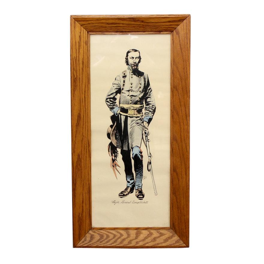 Jack Daug Hand-Colored Portrait of Major General George Pickett