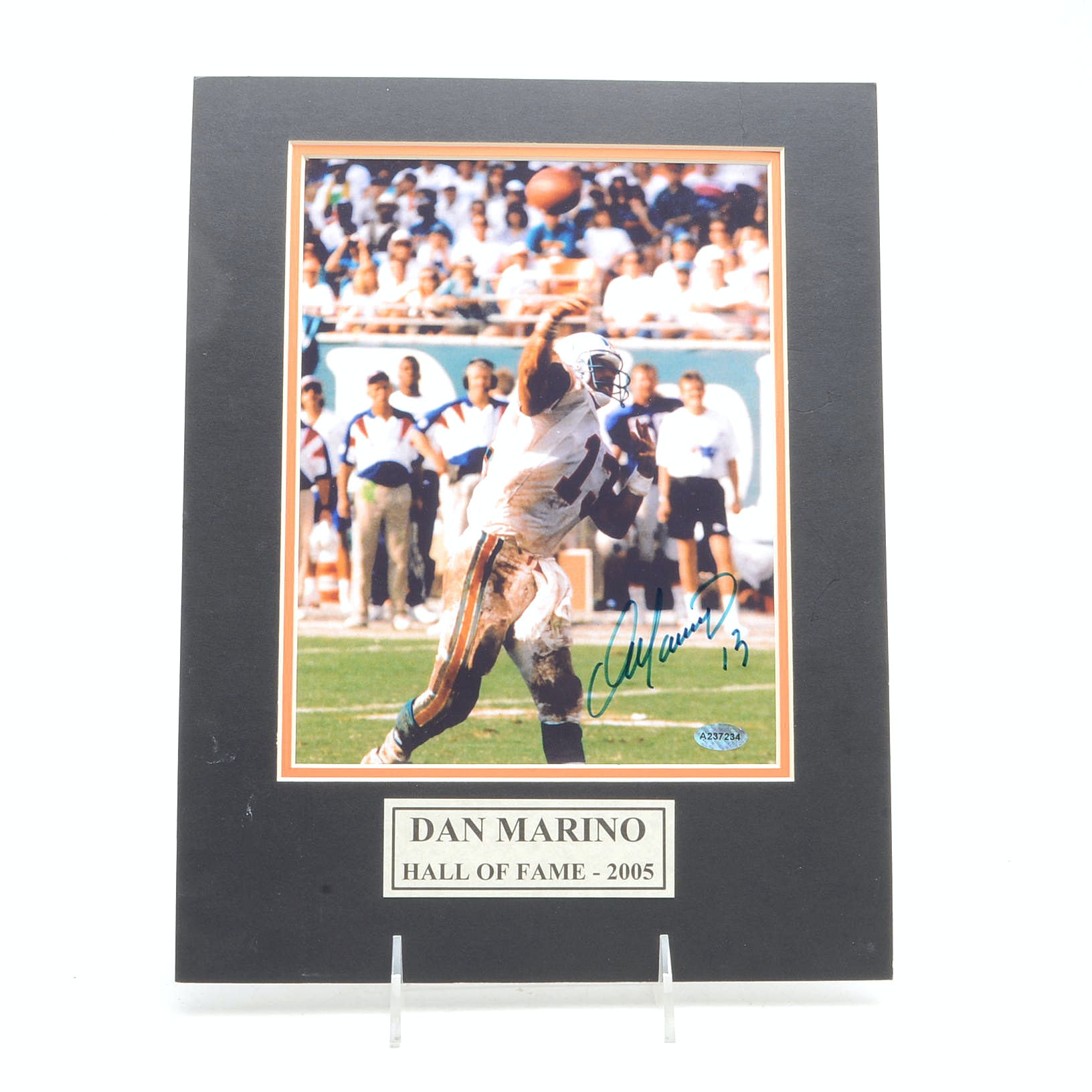Dan Marino Autographed Miami Dolphins Football Photo