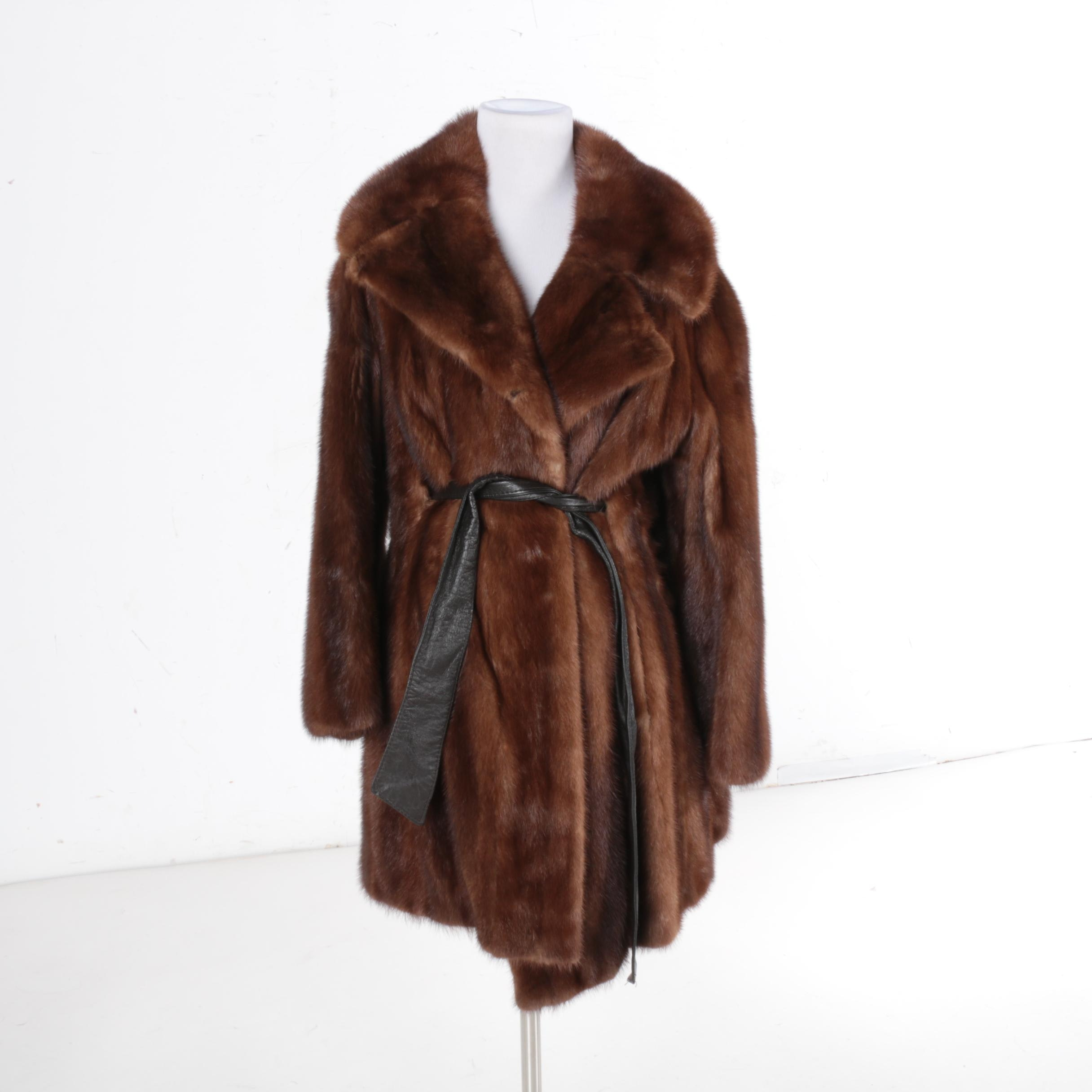 Vintage Brown Mink Fur Coat