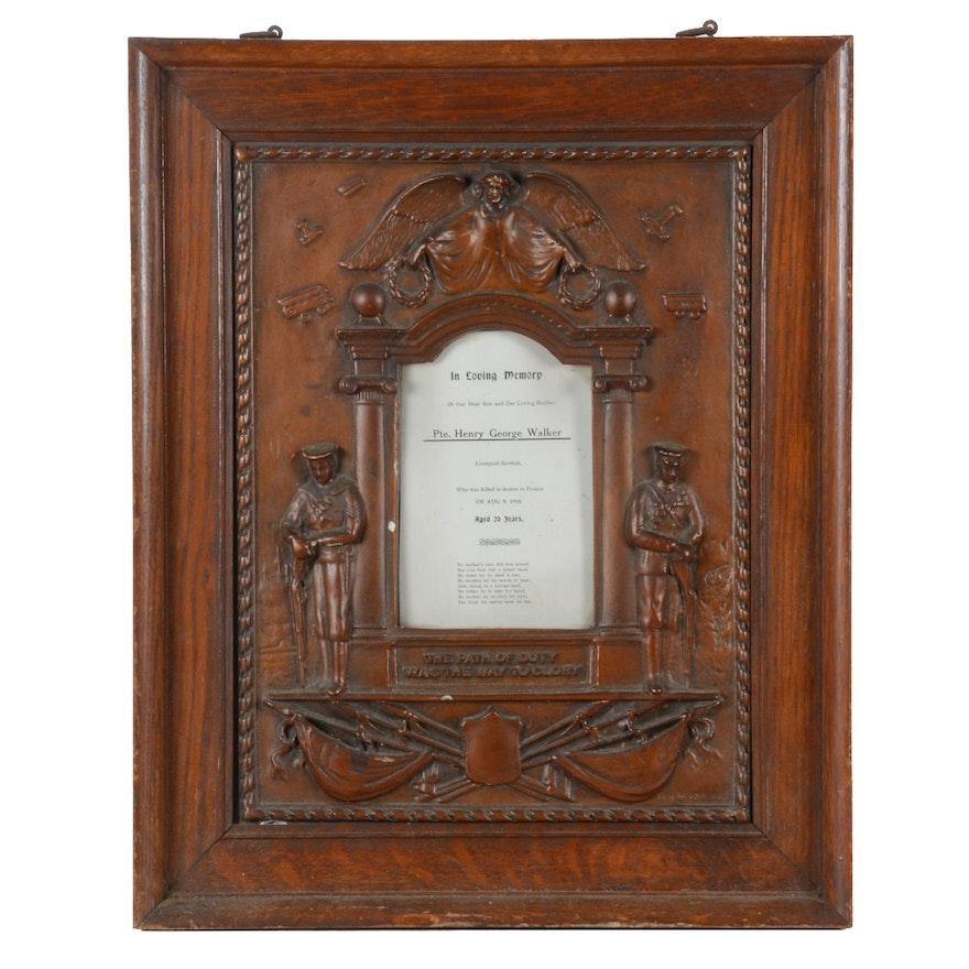WWI Memorial Frame \