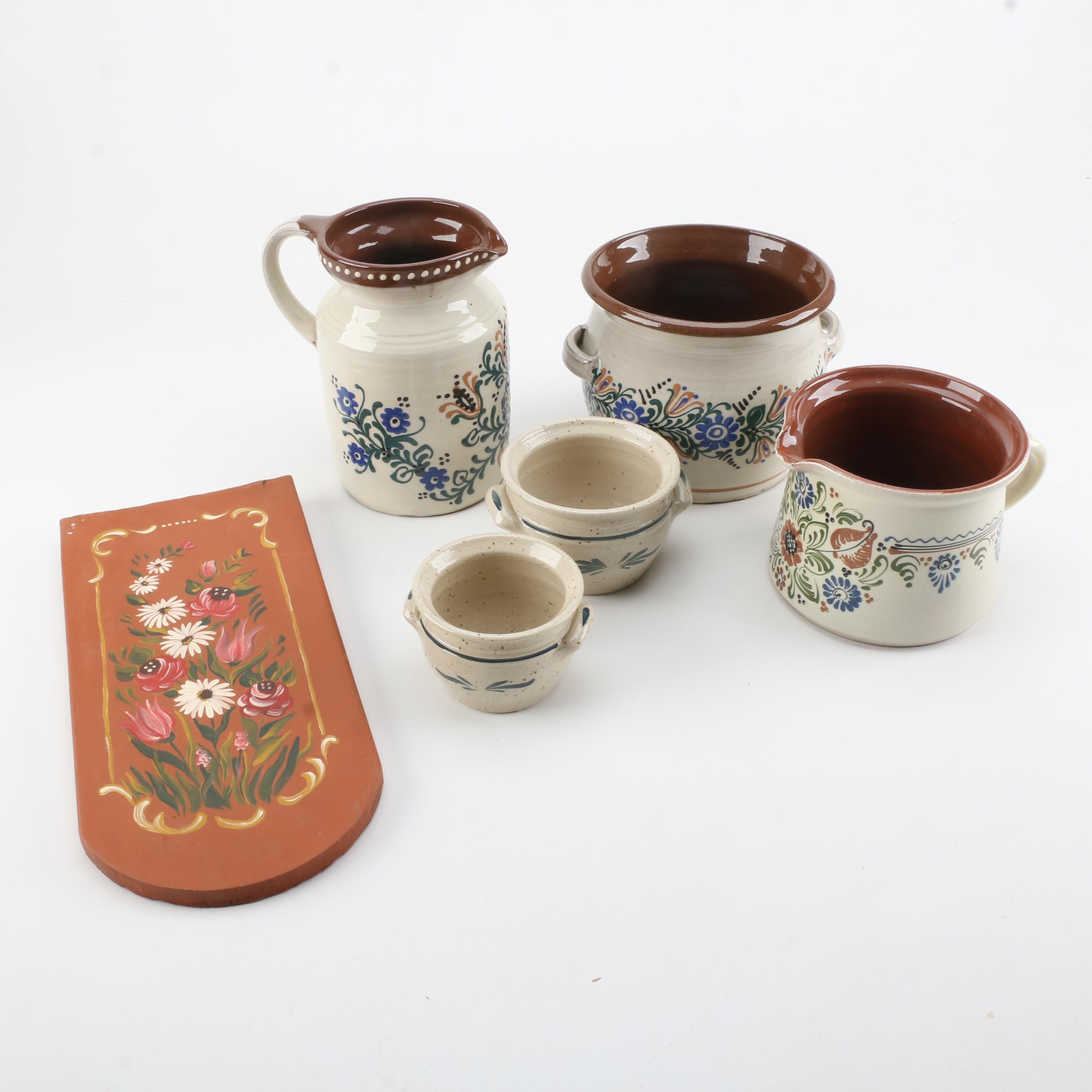 Pottery Serving Ware and Decor