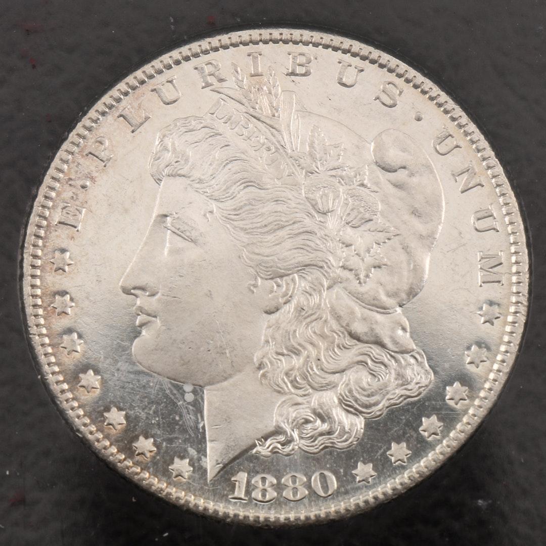 Encapsulated 1880 S Morgan Silver Dollar