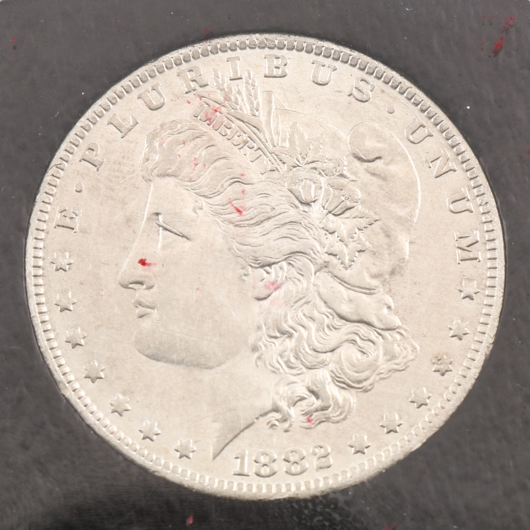 Encapsulated 1882 O over S Variety Morgan Silver Dollar