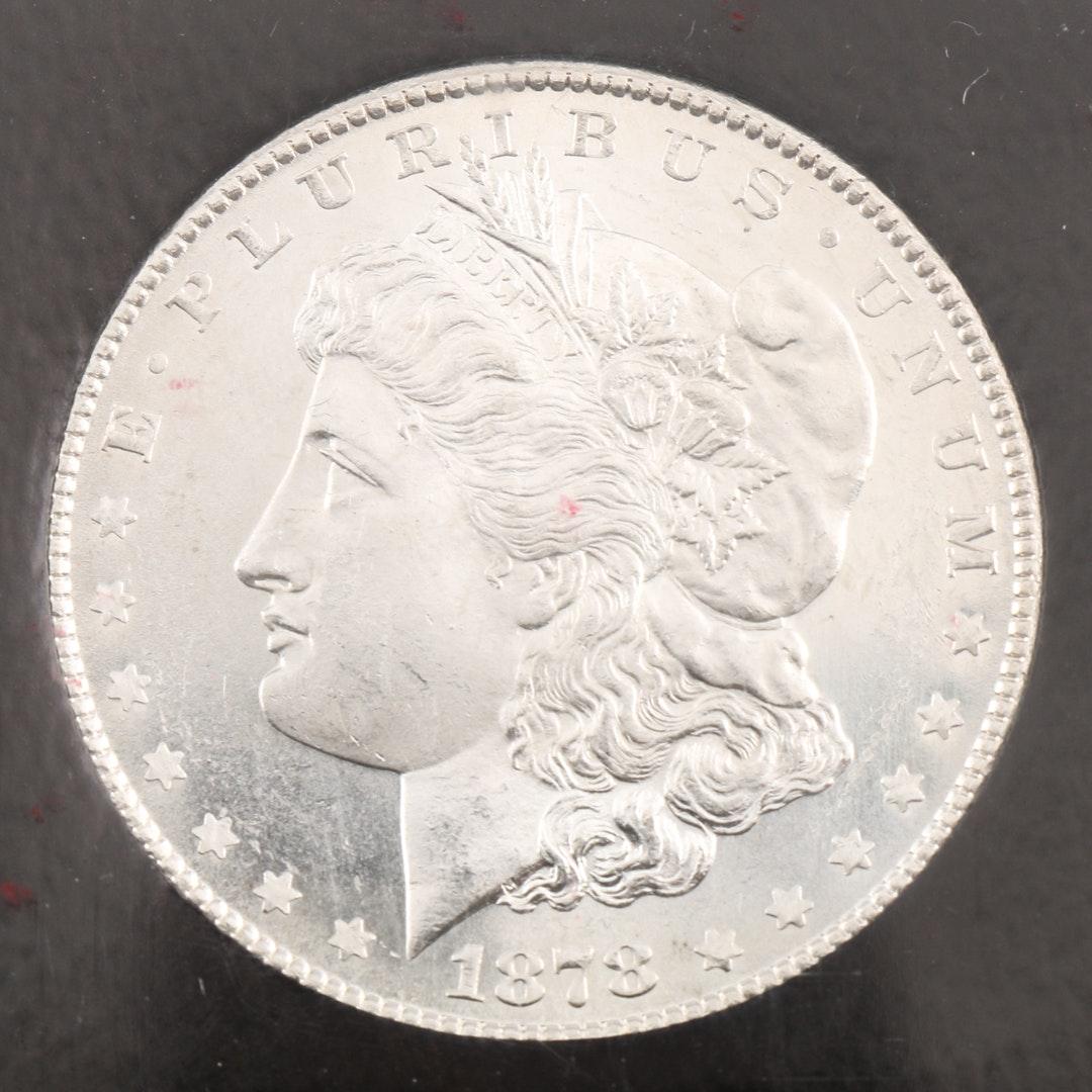 Encapsulated 1878 S Morgan Silver Dollar