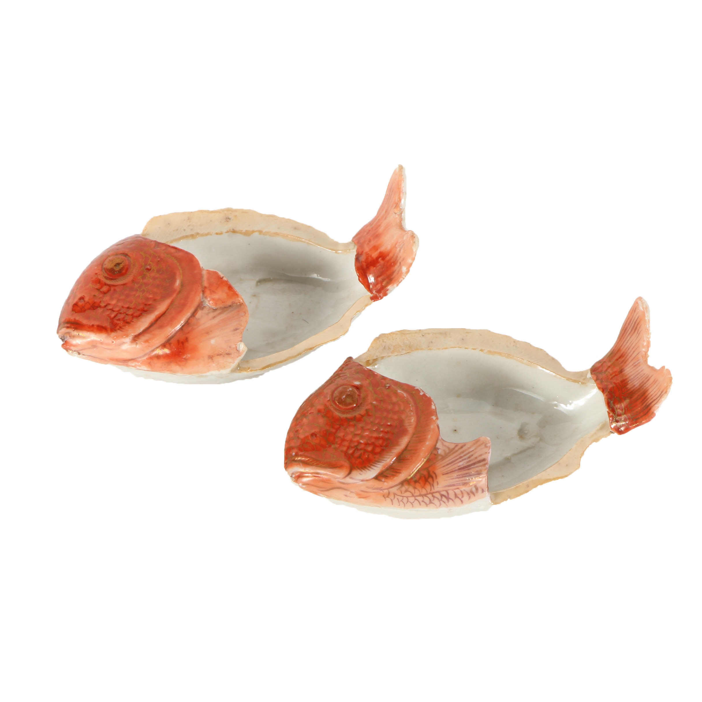 Pair of Japanese Decorative Red Snapper Dishes